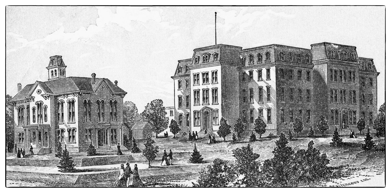 1871 Carver Hall and Original Dormitory