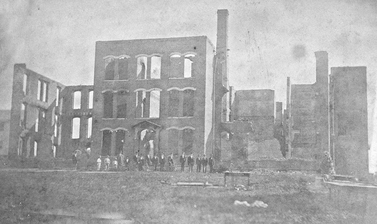1875 Original Dormitory After Fire
