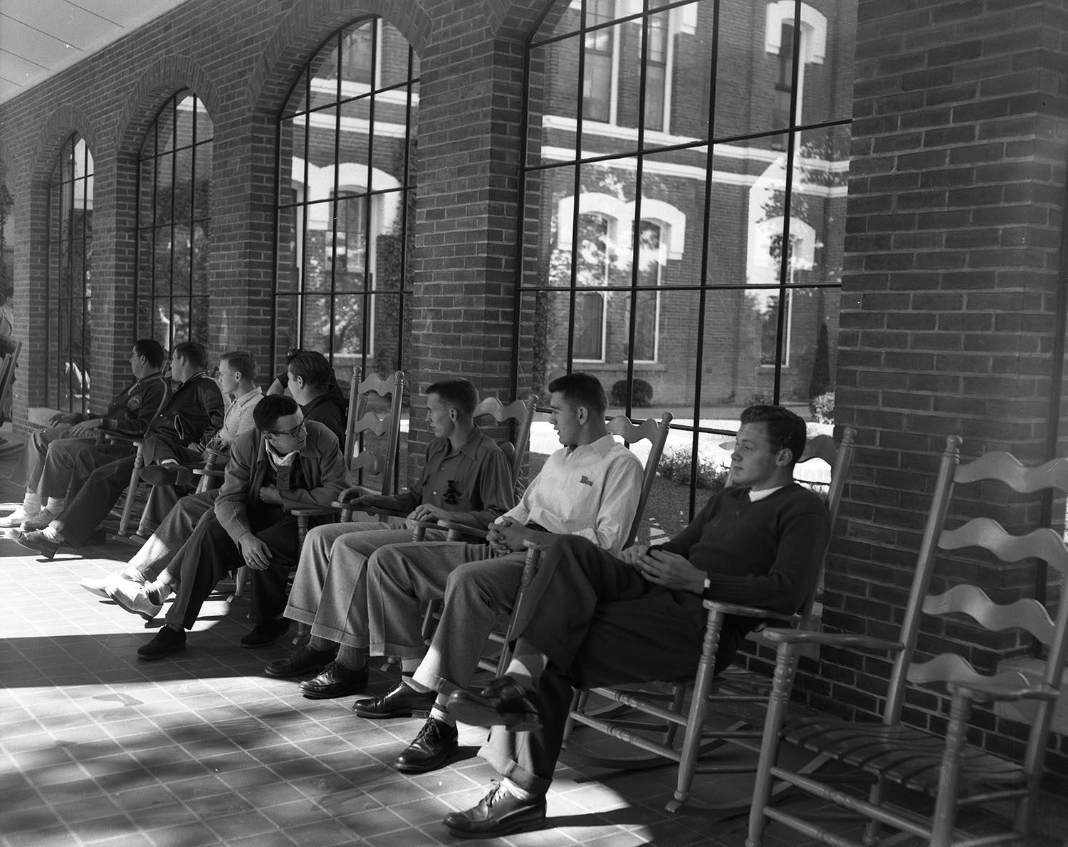 1955 Waller Hall Long Porch